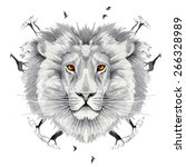 lion king of beasts in the... | Shutterstock . vector #266328989