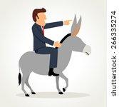 simple cartoon of a businessman ... | Shutterstock .eps vector #266335274