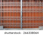 antique slide steel locked... | Shutterstock . vector #266338064