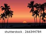 tropical sunrise at seashore...