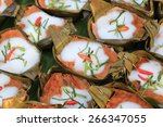 steamed fish with curry paste... | Shutterstock . vector #266347055