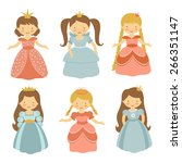 a cute collection of beautiful...   Shutterstock .eps vector #266351147
