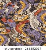 vector seamless pattern ... | Shutterstock .eps vector #266352017