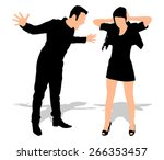boy yelling at his girlfriend ... | Shutterstock .eps vector #266353457