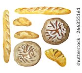 vector watercolor set.... | Shutterstock .eps vector #266355161