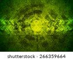 Green Grunge Tech Geometric...