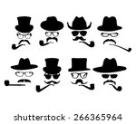 collection of 8 vintage style... | Shutterstock .eps vector #266365964