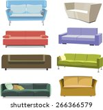 illustration of a sofas | Shutterstock .eps vector #266366579