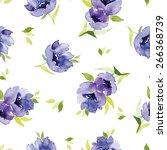 blue watercolor flowers...