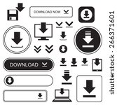 download buttons and icons  set ... | Shutterstock .eps vector #266371601