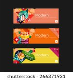 set of banners with stickers ... | Shutterstock .eps vector #266371931