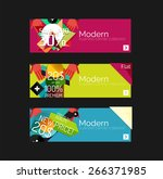 set of banners with stickers ... | Shutterstock .eps vector #266371985