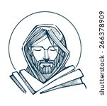 Jesus Serene Face Hand Drawn...