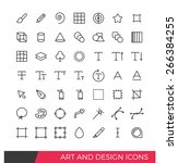 linear art and design line icons | Shutterstock .eps vector #266384255