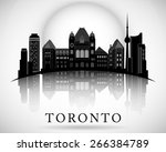 Stock vector modern toronto city skyline design canada 266384789