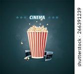 vector illustration of cinema.... | Shutterstock .eps vector #266391239
