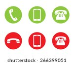 phone call vector icons | Shutterstock .eps vector #266399051