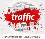 traffic word cloud  business... | Shutterstock .eps vector #266399699
