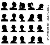 twenty vector anonymous avatar  ... | Shutterstock .eps vector #266403017