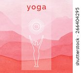 Постер, плакат: Vector yoga illustration Poster