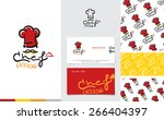 vector   restaurant and... | Shutterstock .eps vector #266404397