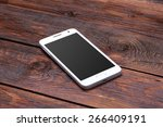 white smart phone with blank...   Shutterstock . vector #266409191