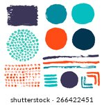 set of abstract color elements. | Shutterstock .eps vector #266422451
