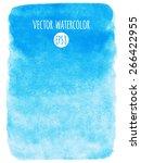 sky blue watercolor vector...   Shutterstock .eps vector #266422955