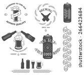 vintage beer emblem  labels and ...   Shutterstock .eps vector #266423684