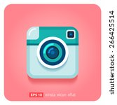 hipster retro photo camera icon.... | Shutterstock .eps vector #266425514