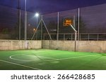 Basketball Court Illuminated A...