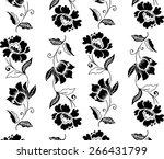 vector batik design with black... | Shutterstock .eps vector #266431799