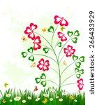 floral background design | Shutterstock .eps vector #266433929