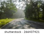 road countryside in motion blur   Shutterstock . vector #266437421