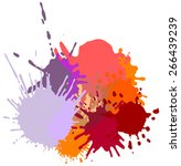 colorful ink splashes. | Shutterstock .eps vector #266439239