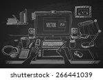 vector illustration desktop
