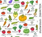 vector pattern of seamless... | Shutterstock .eps vector #266447024