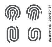 set of fingerprint | Shutterstock .eps vector #266450459