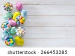 colorful easter candies on a...   Shutterstock . vector #266453285