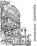 rome | Shutterstock .eps vector #266454404