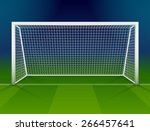 soccer goalpost with net.... | Shutterstock .eps vector #266457641