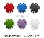 set of casino chips   Shutterstock .eps vector #266458475