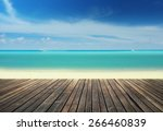 Wooden Pier On The Beach