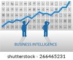 business intelligence vector... | Shutterstock .eps vector #266465231