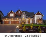 home exterior at night  new... | Shutterstock . vector #266465897