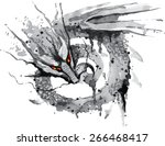 fire breathing dragon with red... | Shutterstock .eps vector #266468417