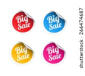 big sale stickers | Shutterstock .eps vector #266474687