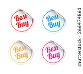 best buy stickers | Shutterstock .eps vector #266474861