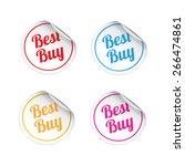 best buy stickers | Shutterstock .eps vector #266474861