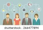 modern flat vector banner of... | Shutterstock .eps vector #266477894